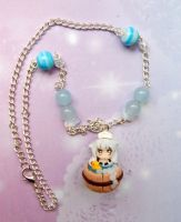 Handmade Inuyasha necklace with polymer clay charm by SimonaZ