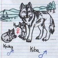 Kiba and my Pups by Sunfall16