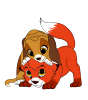 The Fox and the Hound... by Animal-Talents