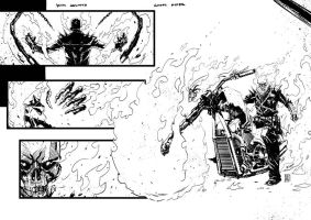Ghost Rider sample page by KimJacinto