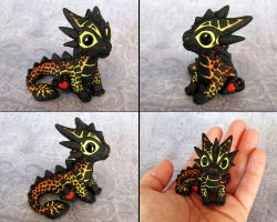 Baby Magma Dragon - Magmini by DragonsAndBeasties