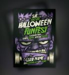 Free Franky Halloween Flyer Template by Pixeden