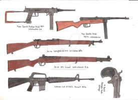 Assorted Guns 4 by stopsigndrawer81