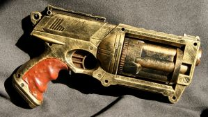 Leather Grip Nerf Maverick by JohnsonArms