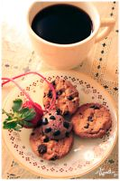 Afternoon of cookies and coffee. by Memainc