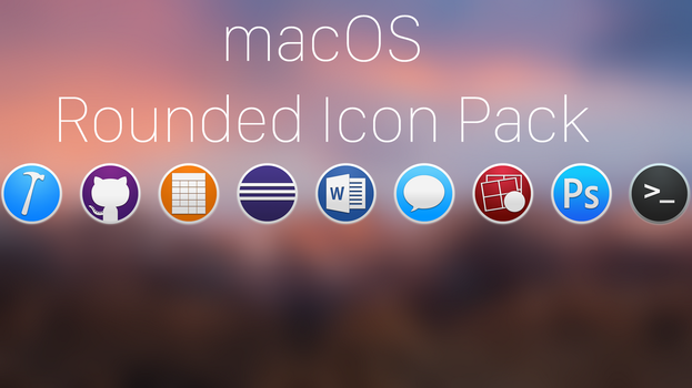 macOS rounded icons pack by trainboy2019