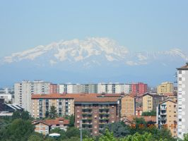 Montains Behind Milan by Appareance
