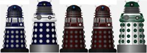 Daleks - Security, Royal Guard, and Genetics. by DoctorWhoOne