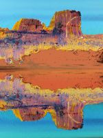 A Mirage In The Hastily Painted Desert by aegiandyad