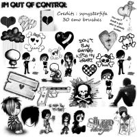 Emo Brushes by synysterfifa