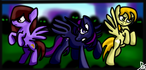COMIC DRAMA, PURPLEGAMER AND ZEDS - canterlot war by djjafeth