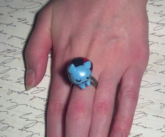 Sleepy Catbug Polymer Clay Ring - Bravest Warriors by LadyMudkip