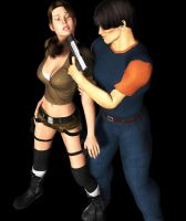 Lara held at gunpoint by fightgirl2004