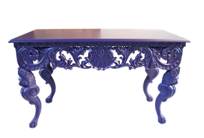purple table stock by DoloresMinette