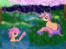 Contest: Twin pony adopt entry by AquaAngel1010