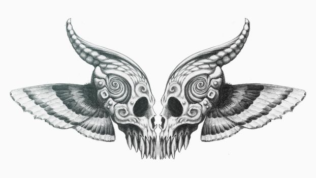 Butterfly Skull Mirrored by CID228