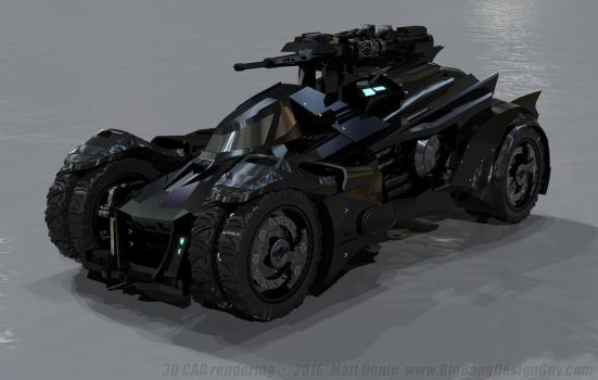 Arkham Knight Batmobile - With Turret by Ravendeviant