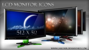LCD Monitor Icons by Gaucher
