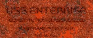 Rusted Dedication Plaque by Hayter