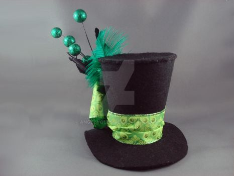 Absinthe Burlesque Mini Top Hat by angelyques