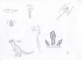 Wicked Savage Sketches by Dragonsmana
