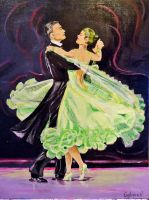 danse au salon by Acrylinne