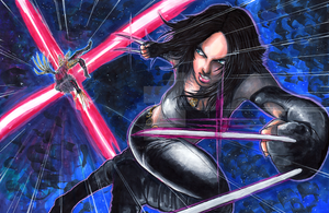 X-23 VS Lady Deathstrike by Pixelated-Takkun