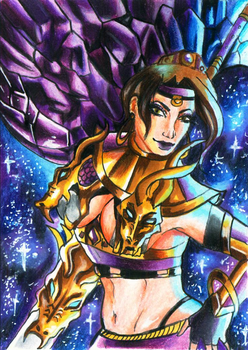 ACEO Card - Gleaming Dreams (Rise of Shiranui) by Shiranui94