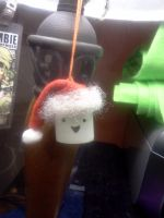 Santa Mallow Ornament by Twitchy-Kitty-Studio