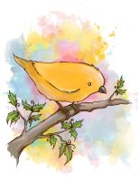 yellow bird by Anti-Pati-ya