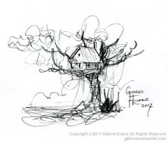 Treehouse Sketched Under 3 Minutes (Video) by GabrielEvans