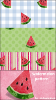 watermelon patterns by rainbows-stock