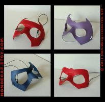 leather superhero mask batch 2 by nondecaf