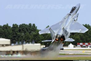 F-15 Eagle Going Vertical at Take off by jamestayloranime