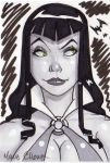 vampirella sketch card by MarioChavez