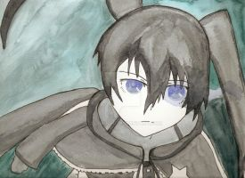 Black Rock Shooter Painting by Angel-Robin