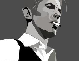 Thin White Duke-David Bowie by AWinterFreak
