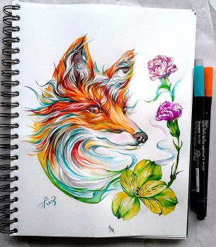 red fox by polar1303
