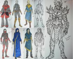 Skyrim Outfits by AlexRammsteiner
