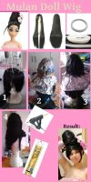 Wig tutorial by Biseuse