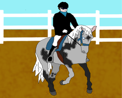 Thunder's 1st Show, Dressage with Kye by KyraAkir