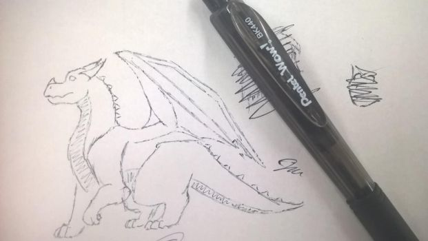 Dragon (Full Pen) by BlackDragonBlood1355