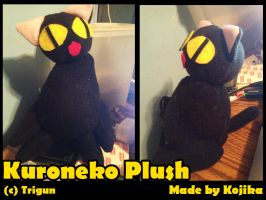 Commission: Kuroneko Plush by kojika