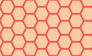 Honeycomb-252 (Guava Peach) by Trapped-Echoes