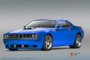 Blue Future Cuda by burningman