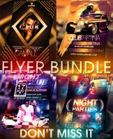 PSD Nightclub Flyer Pack by retinathemes