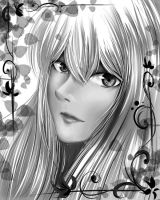 Petals (Black and White) by haru890