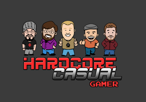 Hardcore Casual Gamer Logo by StickstoMagnet