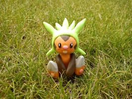 Chespin, the grass starter again by Neukino