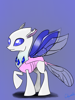 Disappearing Ink Changeling form by Chopsticks-Pony